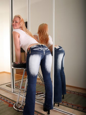 Massive booty angels with regard to jeans
